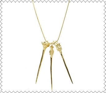 Cabrito Gold Sword Necklace gothic goat fairy tale