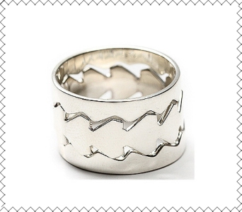 Layla Silver Stacked Diamond Ring
